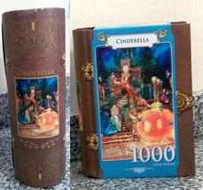 Cinderella Leaving the Ball  1000 Pc Puzzle in Book Shaped Box New Unopened Bag - $14.84