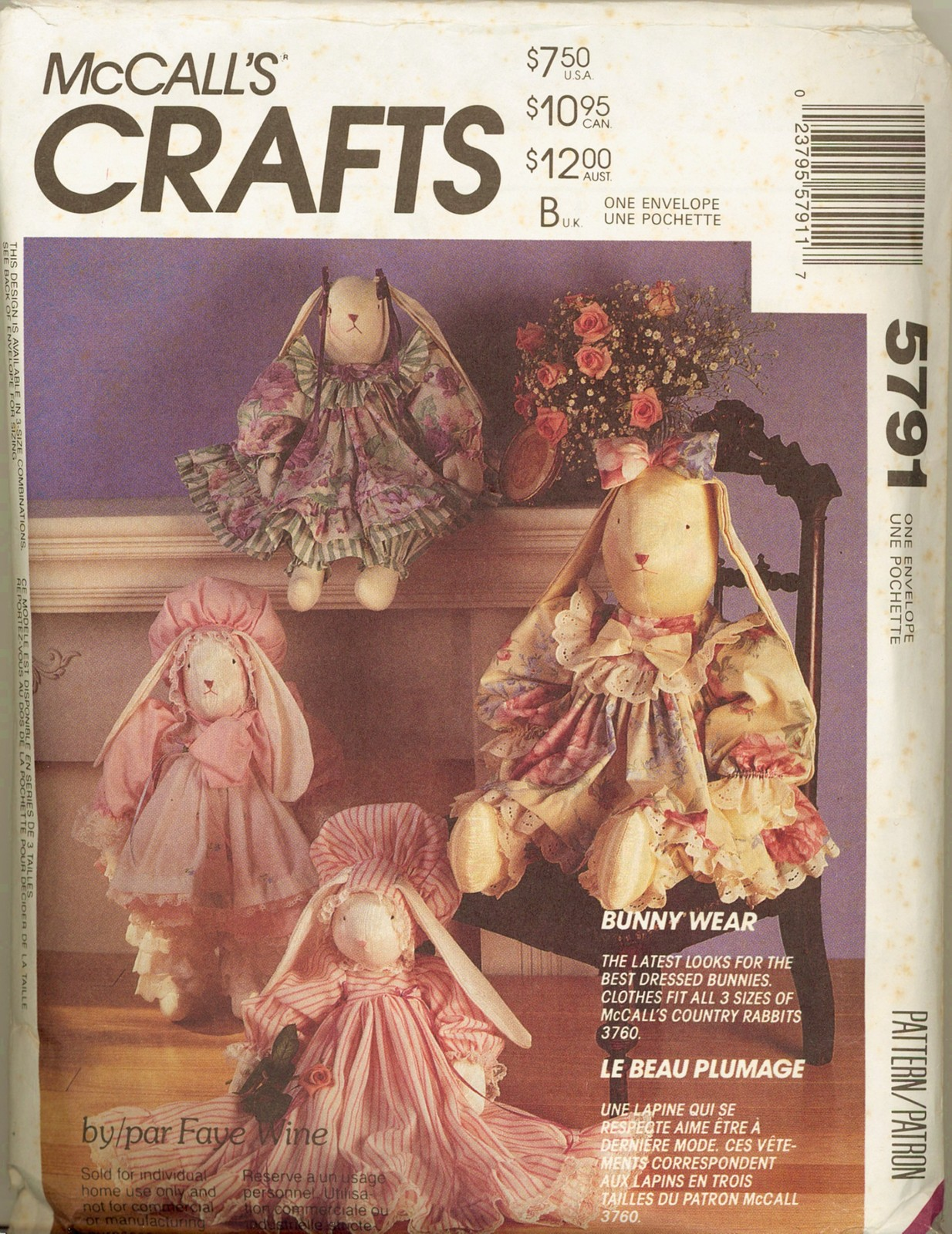 Auction 41 m 5791 bunny clothes one 1992
