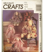 Part Cut Faye Wine Bunny Wear Easter Clothes McCalls 5791 Pattern - $6.99