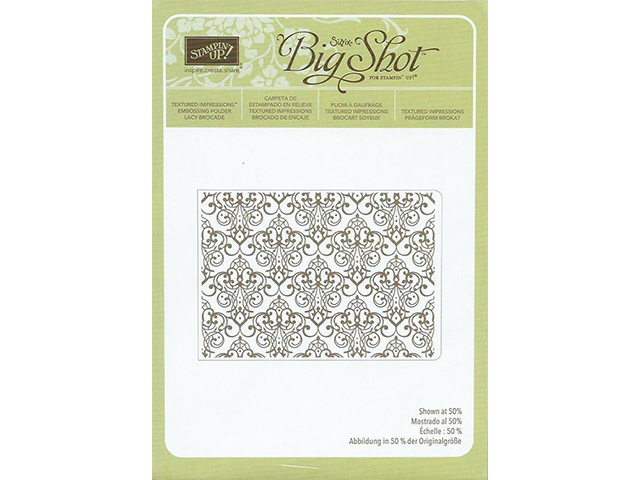 Stampin' Up! Textured Impressions Embossing Folder Lacy Brocade #127819 - $4.99