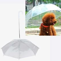 Dog Umbrellas Transparent Waterproof Plastic Solid Pattern Rain Protecti... - $14.52