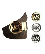 Michael Kors Women's Signature Reversible Circle MK Logo Belt 551342 - $39.57+