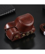 Blackbrowncoffee PU Leather Camera Case Bag Cover Sony A6500 A6300 A6000... - $28.07
