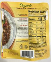 6 Sealed Packages Of Tasty Bite Organic Indian Madras Lentils 10 Oz Each image 3