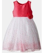 new MARMELLATA Baby Girl SPARKLE PARTY DRESS sz 2T 24m white & pink EASTER - $19.70