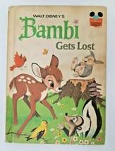 Walt Disney's Bambi Gets Lost Story 1972 Book Vtg 70s Wonderful World of... - $9.89