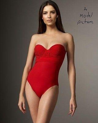 Gottex 11BG-074 Beach Goddess Convertible Straps 1PC Bandeau Swimsuit Black 10
