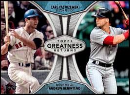 2019 Topps Greatness Returns #GR-6 Carl Yastrzemski/Andrew Benintendi NM... - $3.99