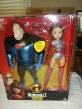"""Disney Pixar Incredibles 2 Elastigirl & Mr. Incredible Doll 12 """". 2 Pack NEW:B1 - $25.99"""