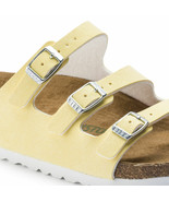 Birkenstock Florida Fresh Vegan Birko-Flor Brushed Vanilla Strap Sandals 1012823 - £87.22 GBP