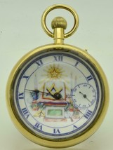 Antique Longines Masonic ball watch c1890s.Fancy dial.Demonstator back. ... - $1,157.14