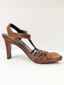 Via Spiga Pre-owned Brown Suede Strappy Italian Sandals, Sz. 7.5 MSRP $225 image 4