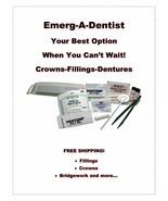 EDK Complete Mini Dental Repair Kit Dentures Crowns Bridgework Fillings - $16.99