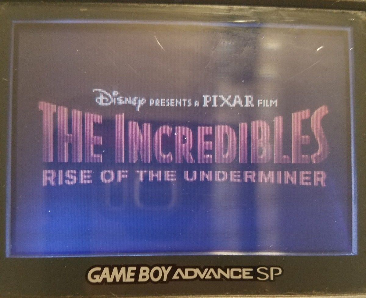 The Incredibles Gameboy Advance Game GBA nintendo Disney Pixar