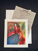 """LeKinff Seriolithograph Signed in the Plate w/COA: """"Afternoon with Polly... - $24.50"""