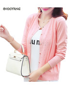 new female knitting sweater thin cardigan coat Spring autumn women short... - €22,18 EUR