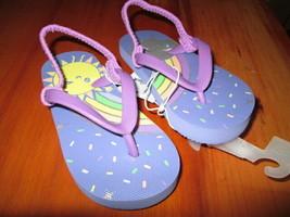 Toddler Girls Keira Rainbow Flip Flop Sandal size M New - $8.50