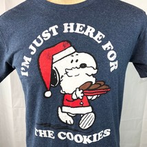 Snoopy Christmas Here For Cookies Peanuts Retro Throwback M T-Shirt Medi... - $19.21
