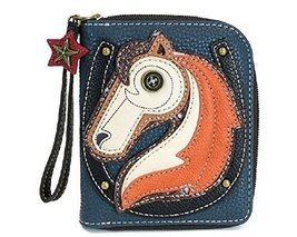 Charming Chala Magestic Horse Purse Wallet Credit Cards Coins Wristlet