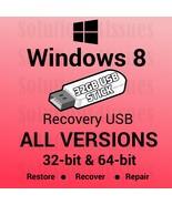 Windows 8 All Versions  32 & 64 Bit Recovery Install Reinstall Restore U... - $21.99