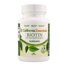 California Essentials High Potency Biotin 10000mcg Tablets - Daily Healthy Hair  image 3