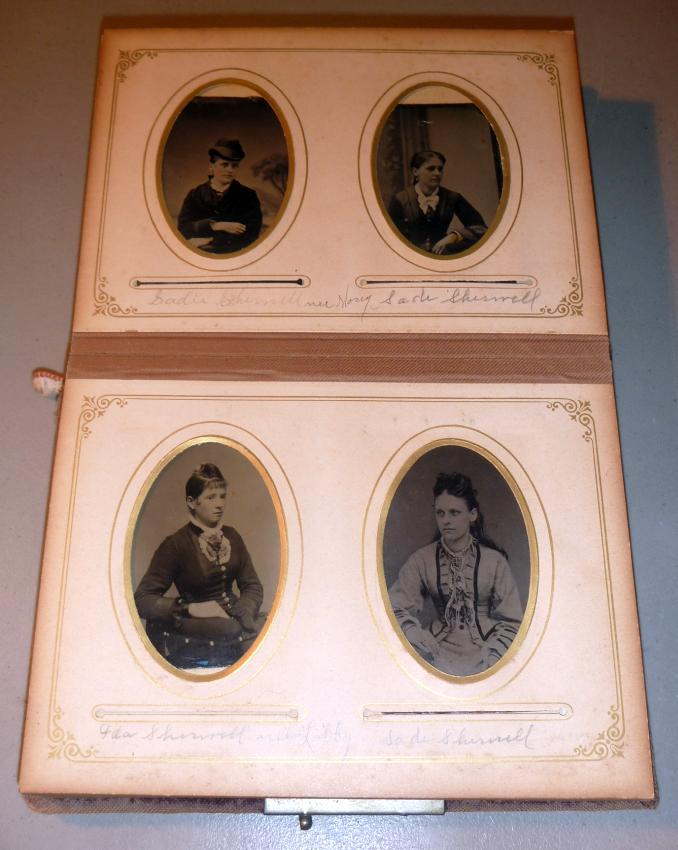 Sherrell Photo Album 36 Identified Tintype & Cabinet Photos New Hampshire