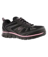 Work Black Pink Skechers shoes Women Memory Foam Slip Resistant Alloy To... - $49.99