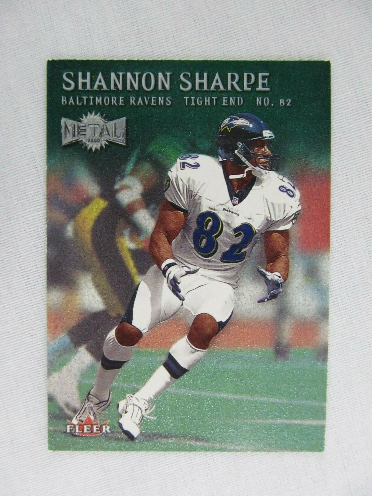 Shannon Sharpe Baltimore Ravens 2000 Fleer Metal Football Card 36