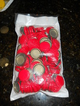 CROWN CAPS 144 NEW RED BOTTLE CAPS STANDARD 26.5 SIZE FOR SODA AND BEER ... - $7.87