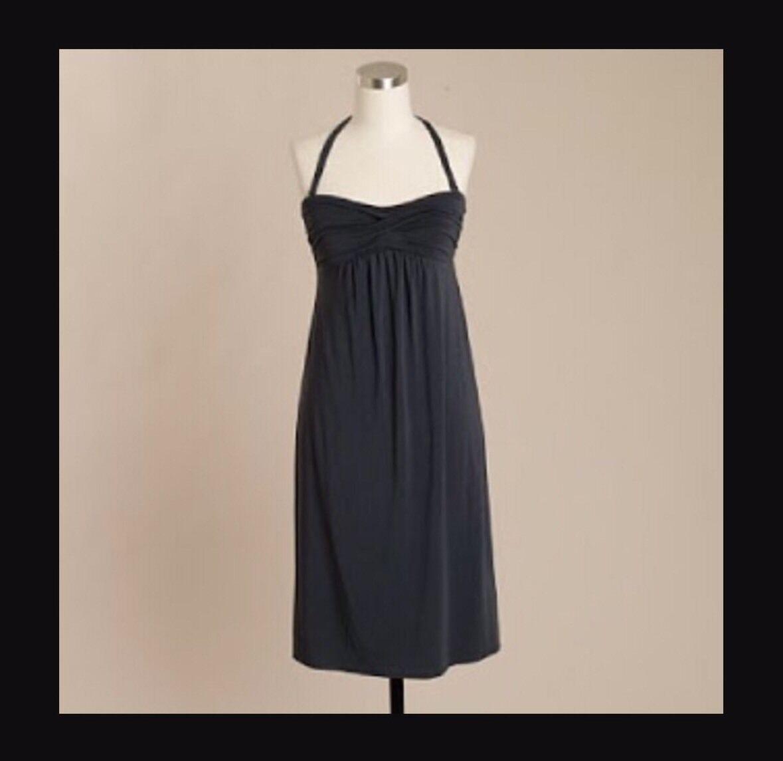 NWT J.CREW Dressy Jersey Strapless Dress in Gray, Size Small