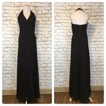 David's Bridal Women's Black Halter Top Floor Length Gown Size 6 Style F... - $44.09
