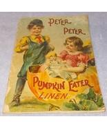 Peter Peter Pumpkin Eater McLoughlin Linen Book Little Miss Muffet Serie... - $39.95