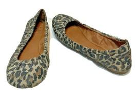 Lucky Brand Womens Leopard Print Slip On Ballet Flats Size 6 M - $16.56