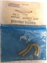National Mfg Swivel Antique Gold Finish Planter Hooks, V153, 158-659, Qty 2 - ₹289.92 INR