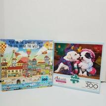 "Mixed Lot 300 Large Pieces ""Best Friends & Harbor City"" Jigsaw Puzzle Lo... - $9.00"