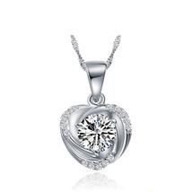 Heart Fashion Cubic Zirconia 925 Sterling Silver Pendant - $10.86