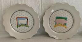 Vintage Vandor Country 1981 Pelzman Design Salad/Dessert Plate (2) Farm ... - $17.81
