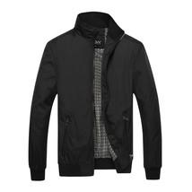 Men Casusl Wear Stand Collar Long Sleeve Zip up Jackets Coat - $42.12