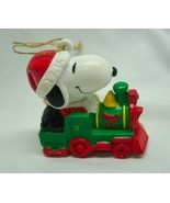 "Peanuts Gang Santa SNOOPY Riding Train 2"" PLASTIC PVC CHRISTMAS ORNAMENT - $14.85"