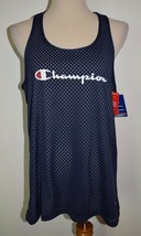 New Champion Tank Top Large Blue Jersey Mesh Gray Reversible Shirt Gym T... - $17.75