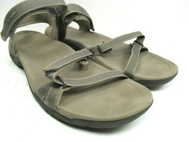 Teva Vera Womens Strappy Sandals Taupe Hook And Loop US size 10 - $28.71