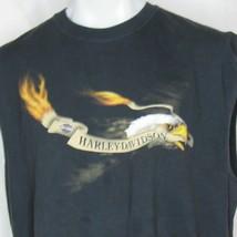 Harley-Davidson Mile High Aurora Colorado Mens 2XL Sleeveless T-Shirt Eagle - $20.79