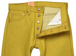 NEW LEVI'S 501 MEN'S ORIGINAL FIT STRAIGHT LEG JEANS BUTTON FLY YELLOW 501-1474 image 3