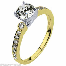 WOMENS DIAMOND ENGAGEMENT RING BRILLIANT ROUND CUT 1.30 CARAT 18K YELLOW... - £3,360.19 GBP