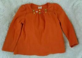 Gymboree Flowers 3T Orange Swing Top long sleeve 100% cotton  - $11.08