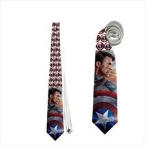 necktie civil war captain america superhero avenger cosplay shield cosplay neck  - $22.00