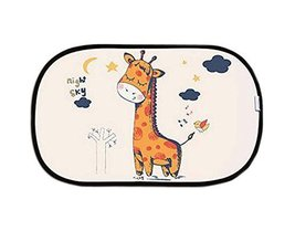 Lovely Cartoon Car Curtains Sunshades Sunscreen Insulation Sunshades, Deer