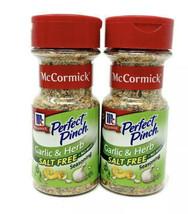 Two McCormick Perfect Pinch Garlic & Herb Salt Free Seasoning 2.75 Oz Ea... - $14.95