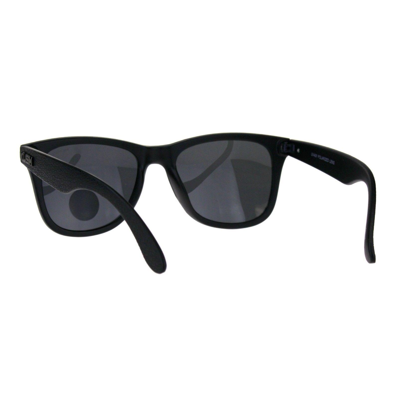 Polarized Lens Kush Sunglasses Textured Matte Black Classic Square Frame