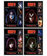 KISS Set OF 4 Ace, Gene, Paul, Peter 1977 Tour Solo Album Stand-Up Displays - $65.00